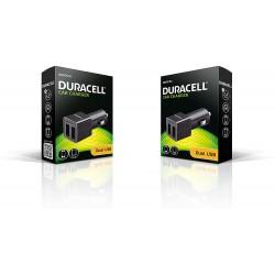 Duracell DR5010A Doppia Presa 12V USB, Nero