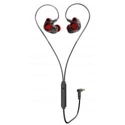 HP Auricolare con microfono Nero/Rosso DHE-7002