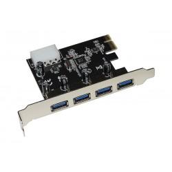 SCHEDA PCI-EXPRESS 4 PORTE USB 3.0