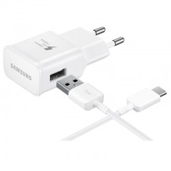 Samsung Fast Charger 15W EP-TA20EWECDWW + Cavo Type C , Blister