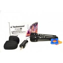 Technosound Doppio Radiomicrofono Multifrequenza UHF Palmare Portatile T-MINI 2