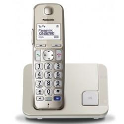 Panasonic Cordless TGE210 di Facile Utilizzo con Tasti grandi