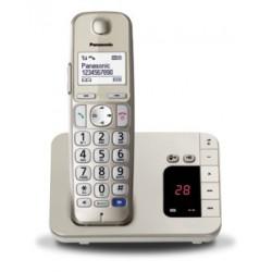 Panasonic Cordless TGE220 di Facile Utilizzo con Segreteria Telefonica