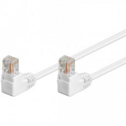 Cavo di rete UTP 5E connettori RJ45 a 90 gradi 2MT grigio
