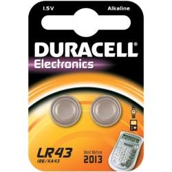 Duracell LR43 Pila da 1,5v -Bl. 2 pz. - Confezione 10 Blister