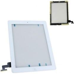 Vetro touch screen Bianco per Ipad 2 completo di adesivi e tasto Home