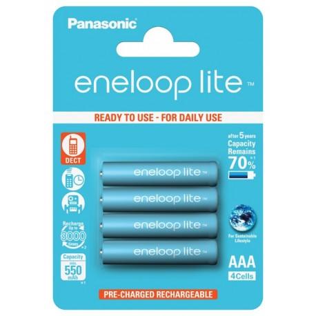 Ministilo ricaricabile Eneloop Lite Panasonic Ni-Mh *550 mAh Blister 4 pz.