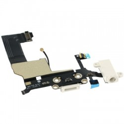 Dock ricarica completo di microfono e jack audio per Apple iPhone 5 Bianco