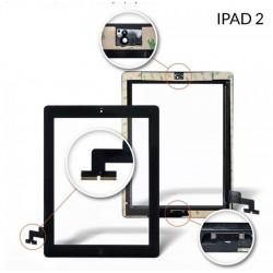 Vetro touch screen per Ipad 2 Bianco completo di adesivi e tasto Home