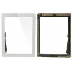Vetro touch screen per Ipad 3-4 Bianco completo di adesivi e tasto Home