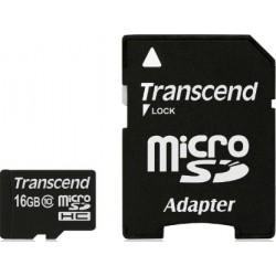Transcend MicroSd Classe 10 16GB con Adattatore