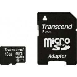 Transcend MicroSd Classe 10 UHS-I (Alta Velocità) 16GB con Adattatore