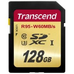 Transcend SD (R95, W60MB/s) UHS-I U3 Classe 10 128GB