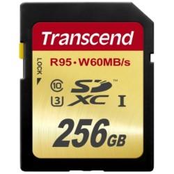 Transcend SD (R95, W60MB/s) UHS-I U3 Classe 10 256GB