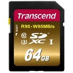 Transcend SD (R95, W85MB/s) UHS-I U3 Classe 10 64GB