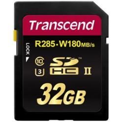 Transcend SD (R285, W180MB/s) UHS-II U3 Classe 10 32GB