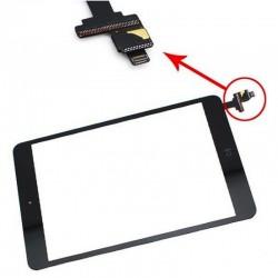 Vetro touch screen per Ipad Mini 1-2 completo di adesivi e tasto Home Nero
