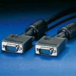 Cavo vga monitor 15 poli doppia schermatura ul2919 maschio/maschio mt. 50 con filtro di ferrite antidisturbo