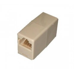 Accoppiatore telefonico 2 connettori RJ45 - 8p8c femmina/femmina colore bianco (ata88)