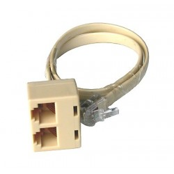 Prolunga cm. 30 1 plug 6 poli maschio a 2 plug 6 poli femmina