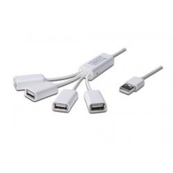 Digitus HUB 4 porte USB2.0 a coda con cavetti