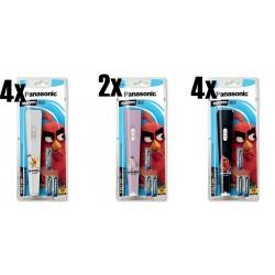 Panasonic Torcia LED Angry Birds con 3 batterie AA incluse nella confezione . Kit da 10 pz