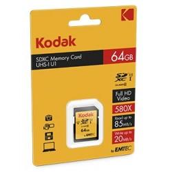 Kodak SDXC 64GB Class10 U3