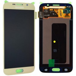 Display Lcd + Touch per Samsung S6 G920 Oro