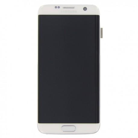 Display Lcd + Touch screen per Samsung S7 Edge G935F Bianco