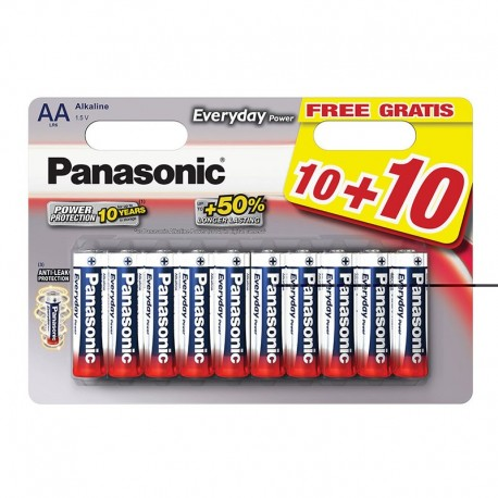 PANASONIC STILO ALKALINE EVERYDAY BL.20