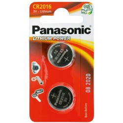 PANASONIC Pila al litio a bottone 3V 2016 Scatola 10 pezzi