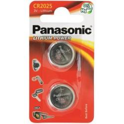 PANASONIC Pila al litio a bottone 3V 2025 Scatola 12 pezzi