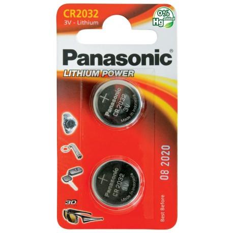 PANASONIC Pila al litio a bottone 3V 2032 Scatola 12 pezzi