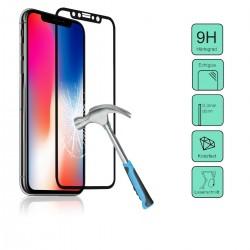 Vetro temperato 3D per Iphone X , Trasparente con bordo nero