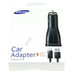 Samsung Caricatore da auto Fast Charger + Cavo Microusb, EPLN915UBEGWW