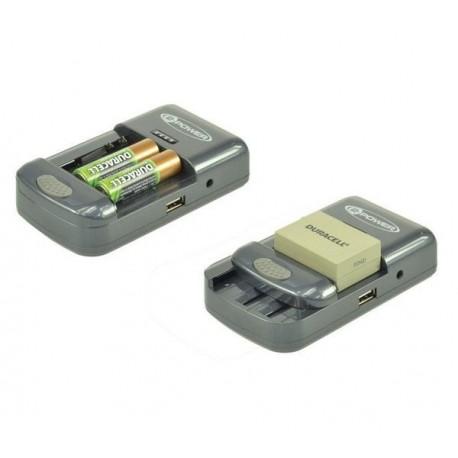Carica batteria universale 2-Power per fotocamere, videocamere, e Smartphone