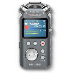 Philips Registratore audio 16GB espandibili DVT7500 con 3 Microfoni