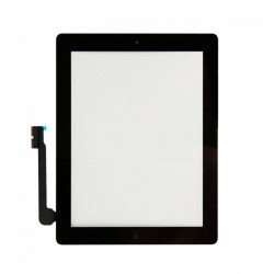 Vetro touch screen per Ipad 4 Nero completo di adesivi e tasto Home