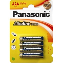 PANASONIC MINI STILO ALCALINA POWER - BLISTER DA 4 PZ. - CONFEZIONE 12 BLISTER