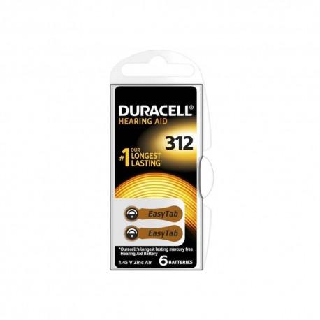Duracell Acustica V 312 Blister 6 pz. - Scatola 10 Blister
