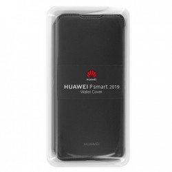 Huawei Wallet Cover per P Smart 2019 Nero